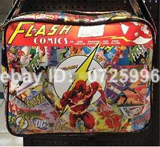 DC Comics magan bag superHeros Flash messenger Students bag leather backpack