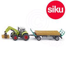 Siku 1946 Claas Tractor Bale Grab + Oehler Bale Trailer 1:50 Scale Model Toy