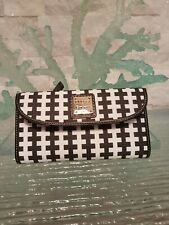 Dooney & Bourke Pebble Continental Leather Clutch Wallet Checkered $148Harlequin