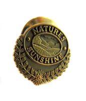 NATURES SUNSHINE  Vintage Pin Badge CLASP