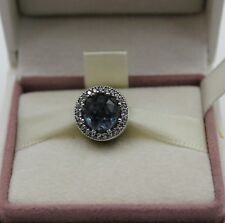 AUTHENTIC PANDORA Radiant Hearts,Moonlight Blue Crystal Clear CZ 791725NMB #388