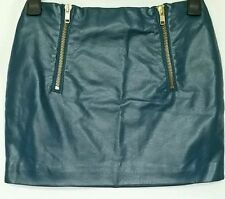 H&M Leather Party Patternless Skirts for Women