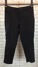 NEW Isaac Mizrahi Live! Womens Pants Cargo Size 12 Black Stretch NWOT Ankle