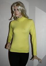 maglia t shirt donna lupetto cotone felpato dolcevita tg l  42 44