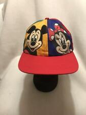 22c32540 Vtg Mickey Minnie Mouse Goofy Pluto Disney Multi Color Snapback Hat Cap