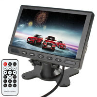 7 Inch 16:9 USB SD MP5 TFT-LCD 2 Video Input Car Rear View Monitor Audio Output