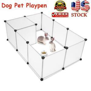 New ListingDog Pet Playpen Portable Plastic Yard Fence Tent Animals 12 Panel Exercise Cage