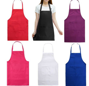 PLAIN APRON WITH FRONT POCKET CHEFS BUTCHERS BEAUTY KITCHEN COOKING CRAFT BAKING
