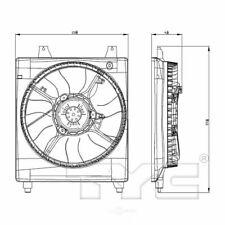 TYC 601020 Radiator Fan Assy