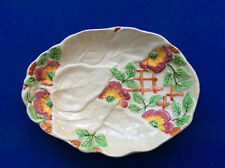 Brentleigh Ware oval fruit or serving dish, moulded with painted 'Beech' design