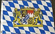 3x5 Bavaria Germany with Lions Bavarian German Oktoberfest Octoberfest Flag New