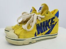 Rare 80's Sneaker Canvas Yellow Nike High Top Size 11.5 Youth