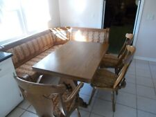 Corner Table  Set w/ Corner Bench, 3 Chairs w Upholstery From Germany, Eckbank
