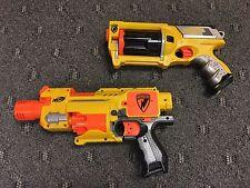 Nerf N-Strike Motorized Barricade RV-10 & Maverick Rev-6 Nerf Guns Used