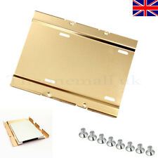 """2.5"""" to 3.5"""" SSD HDD Aluminium Adapter Mounting Bracket Hard Drive Holder for PC"""