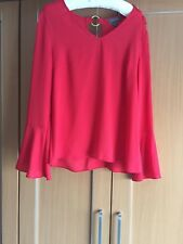 Ladies Red Top Size 14