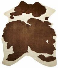 Skinnwille Viking Faux Cowhide Rug 150 x 200cm brown white animal