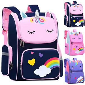 Kids Girls School Bag Unicorn Backpack Shoulder Student Bookbag Travel Rucksack