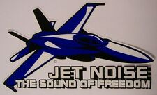 Window Bumper Sticker Military Jet Noise The Sound of Freedom NEW Decal