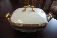 JEAN POUYAT Limoges, France - c1900s tureen with cover, WANAMAKER'S [a5