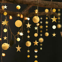 4M Star CirclE Paper Garland Bunting Home Wedding Party Banner Hanging Decor