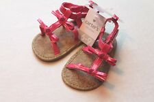 Carter's Infant Baby Girl Size 3 Pink Patent Sandals Shoes 6-9 Months NEW
