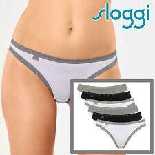 6 Pack Size 10 Sloggi Weekend Tanga Briefs M013 Grey Multi Womens