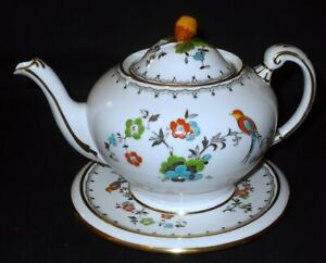 Plant Tuscan China BIRD & FLORAL # 9143 Teapot and Stand