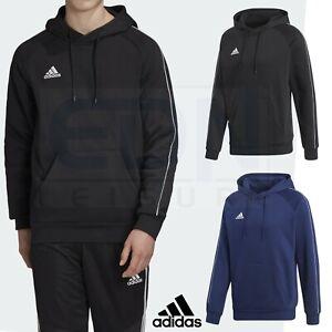 Mens adidas Hoodie Core 18 Hoody Sweatshirt Pullover Top Jumper Black Navy L-XXL