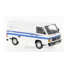 WHITEBOX wb266 Mercedes Benz MB100 SERVICE MOBIL BLANCO/Azul 1:43 (220548) NUEVO