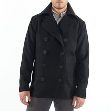 Alpine Swiss Mason Mens Wool Blend Pea Coat Jacket Double Breasted Dress Coat