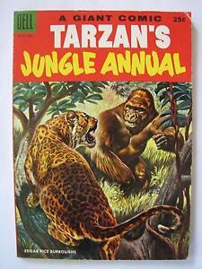 Tarzan's Jungle Annual #4 (Aug 1955, Dell) [FN+ 6.5] Dell Giant
