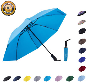 Nooformer Travel Inverted Automatic Umbrella – Reverse Windproof Golf Compact