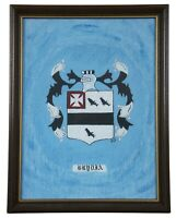Americas Heraldic Heritage Brydia Painting on Board Crest Coat of Arms Shield
