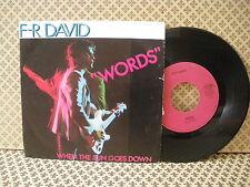 """F-R David """"Words""""  -  45g 7'' (B1)"""