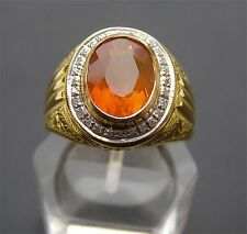 Gold Opal Ring Men's 18K Solid