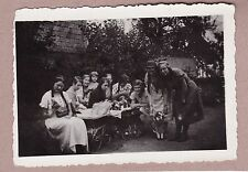 Antique c1934 Photograph - Large Group Of Girls Playing With Dolls, Prams, Toys