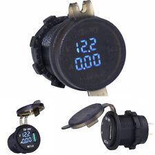 Blaue LED USB Ladegerät Voltmeter Stromanzeige Wasserdicht für Auto SUV Motorrad