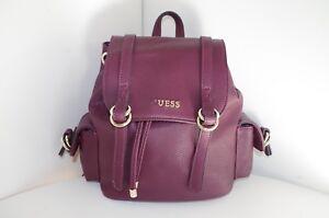 GUESS WOMENS SHOPPING SHOULDER BAG HANDBAG SMALL BACK PACK BACKPACK BORDO 242