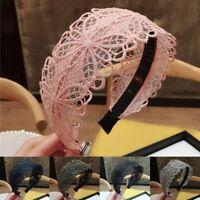 Women's Lace Headband Hairband Wide Alice Hair Band Hoop Accessories Head Band