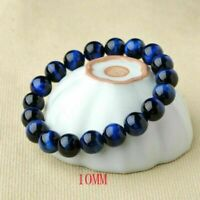 Women Men Blue Tiger Eye Bracelets Men Natural Stone Charm Beads Bracelet