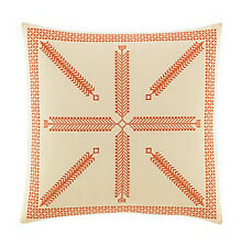 "Tommy Bahama Home Rio Embroidered 16"" Ramie Cotton Geometric Decorative Pillow"
