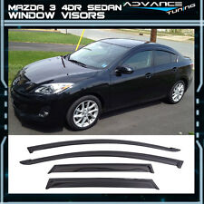 10-13 Mazda 3 Sedan Window Visors UV Resistant Shade Wind Deflector 4PCS