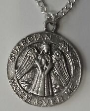 Chain Necklace #101 Pewter GUARDIAN ANGEL MEDALLION (21mm)