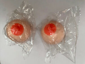 """A PAIR Squishy Boobs Stress Ball Squeeze 2 Pack 2"""" by 2"""" Soft boob Squeezable"""