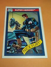 Nick Fury # 5 - 1990 Marvel Universe Series 1 Base Trading Card