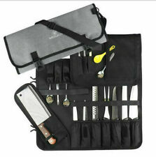 15 Slots Chef Cutlery Canvas Knife Roll BagKitchen Cooking Tools Storage Cases