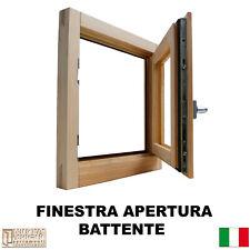 Finestra in legno lamellare grezzo cm L 60 x 60 H battente,levigata,doppio vetro