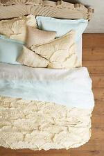 NWT Anthropologie Rivulets Quilt Queen Size Neutral Color Free Shipping