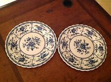 """Johnson Bros. Blue Indies, Set of 2 Bread and Butter Plates 6+"""""""